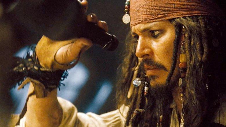 Johnny Depp en tant que capitaine Jack Sparrow