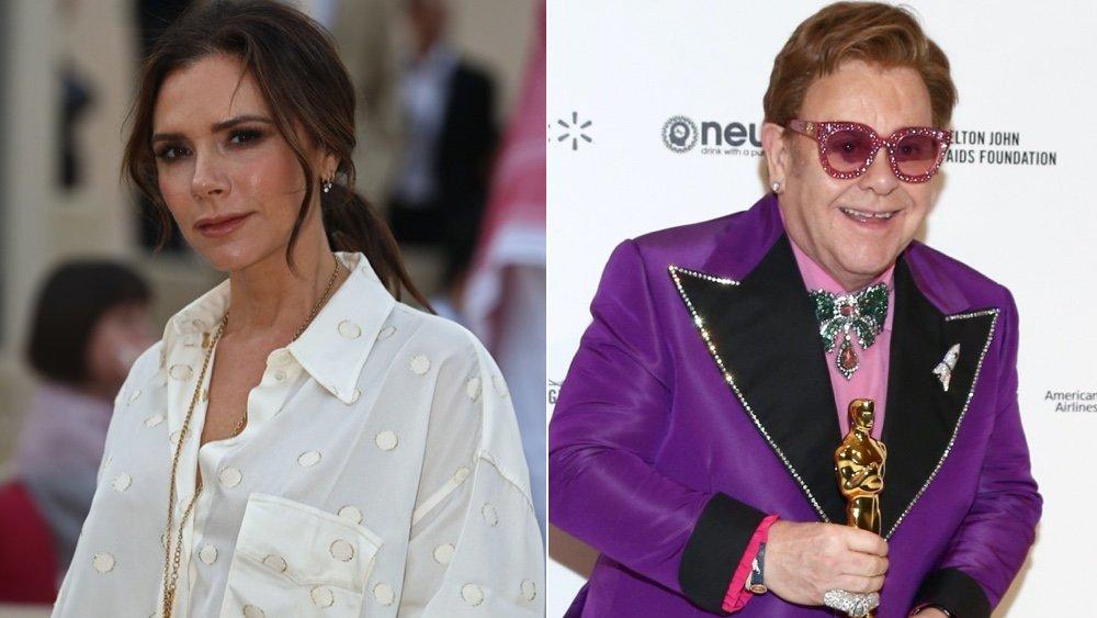 Victoria Beckham et Elton John