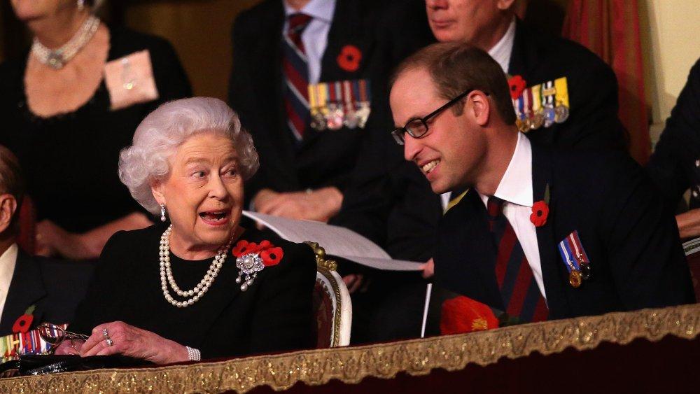 La reine Elizabeth II et le prince William