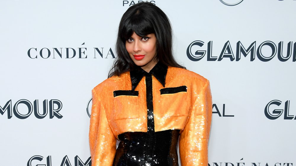 Jameela Jamil posing at the 2019 Glamour Women of the Year Awards