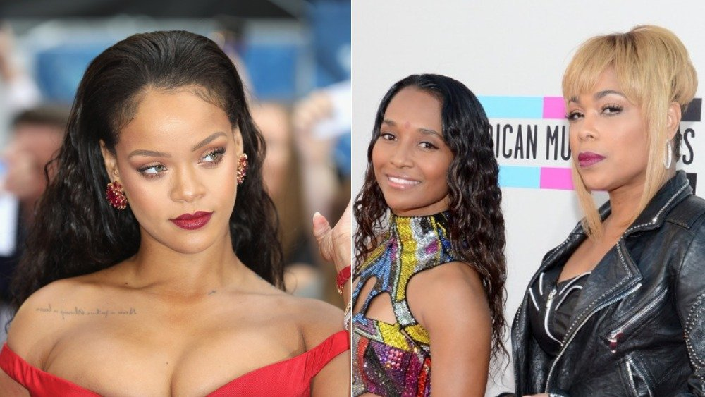 Rihanna and TLC posing at events