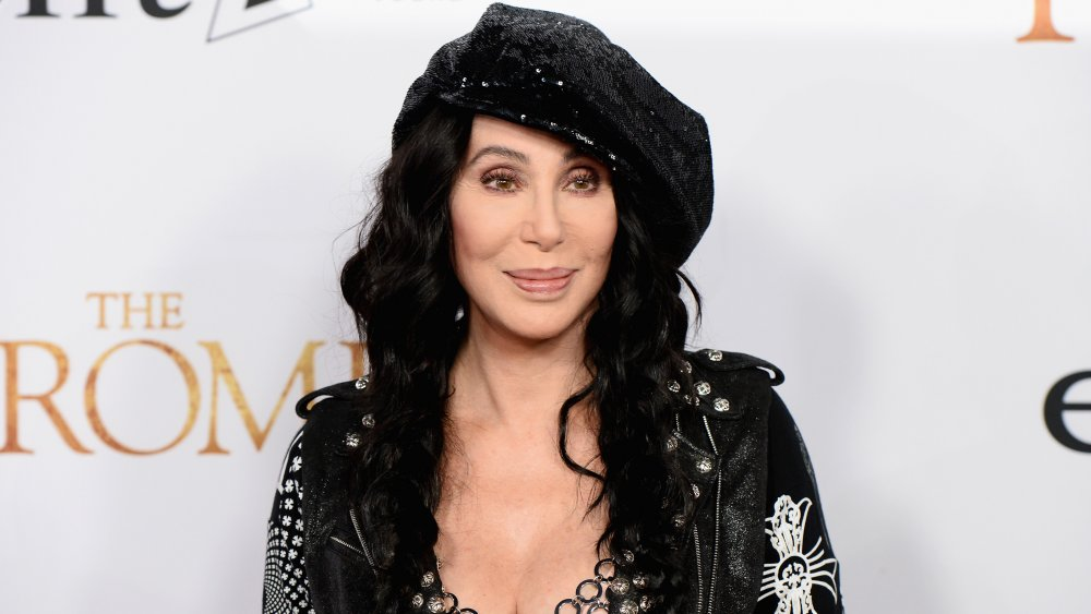 Cher posing at The Promise premiere