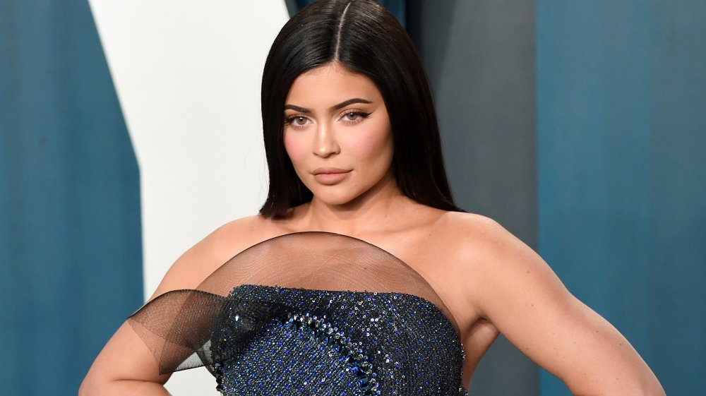Kylie Jenner striking a pose on the red carpet