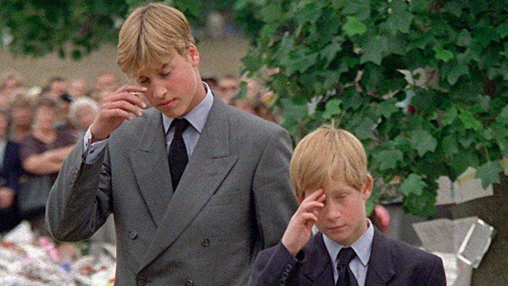 Le prince William et le prince Harry après la mort de la princesse Diana