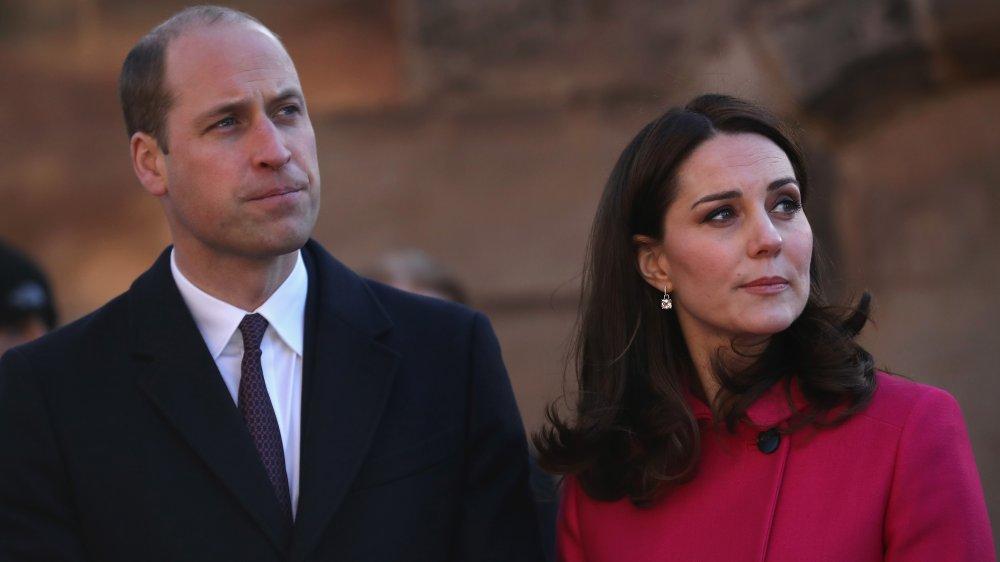 Le prince William, Kate Middleton grimaçant
