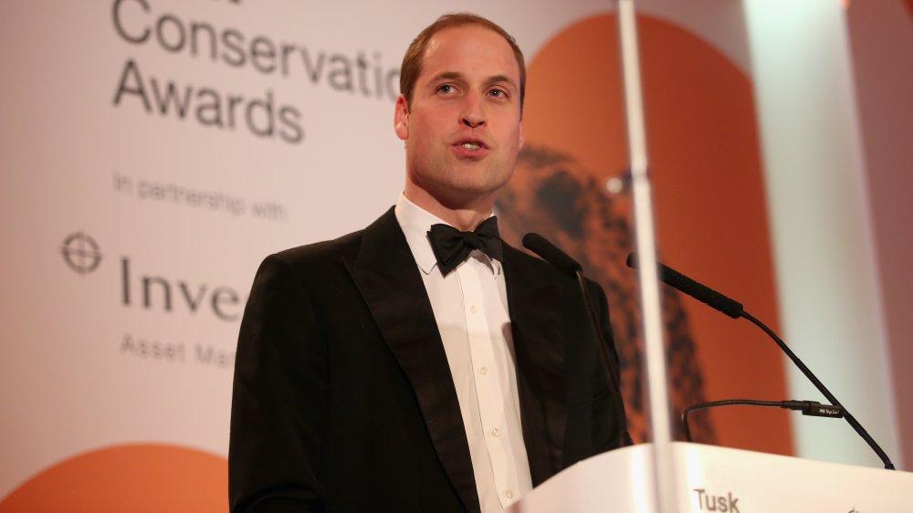 Le prince William prononce un discours