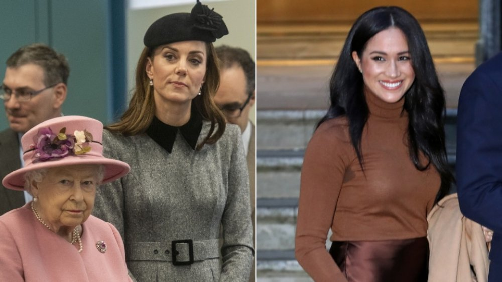 La reine, Kate Middleton, Meghan Markle