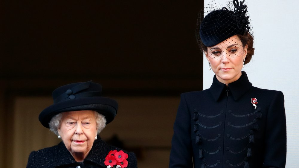 La reine et Kate Middleton