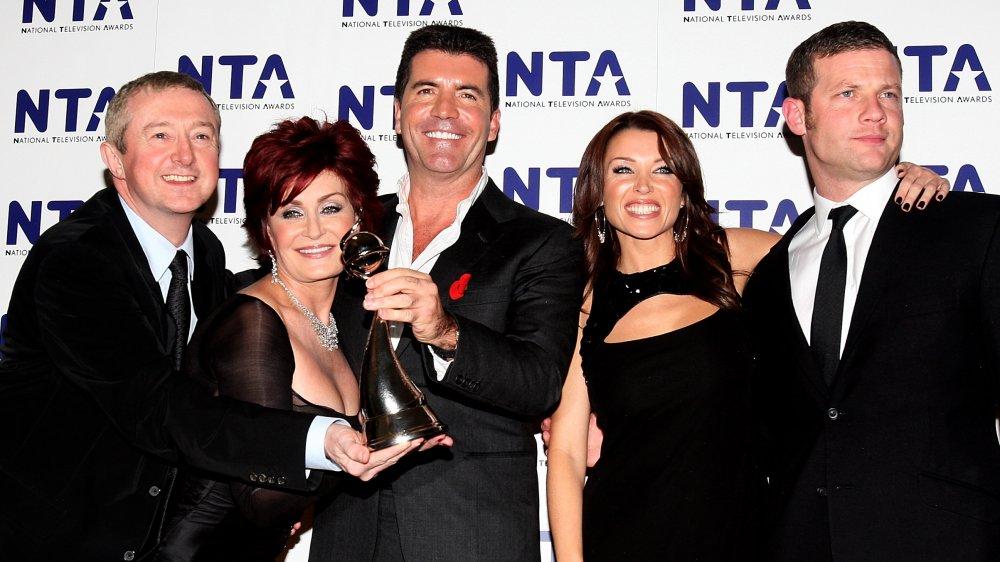 Dermot O'Leary, Sharon Osbourne, Simon Cowell, Dannii Minogue et Luis Walsh aux National Television Awards