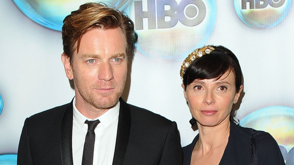 Ewan McGregor and Eve Mavrakis at a Golden Globes after party in 2012