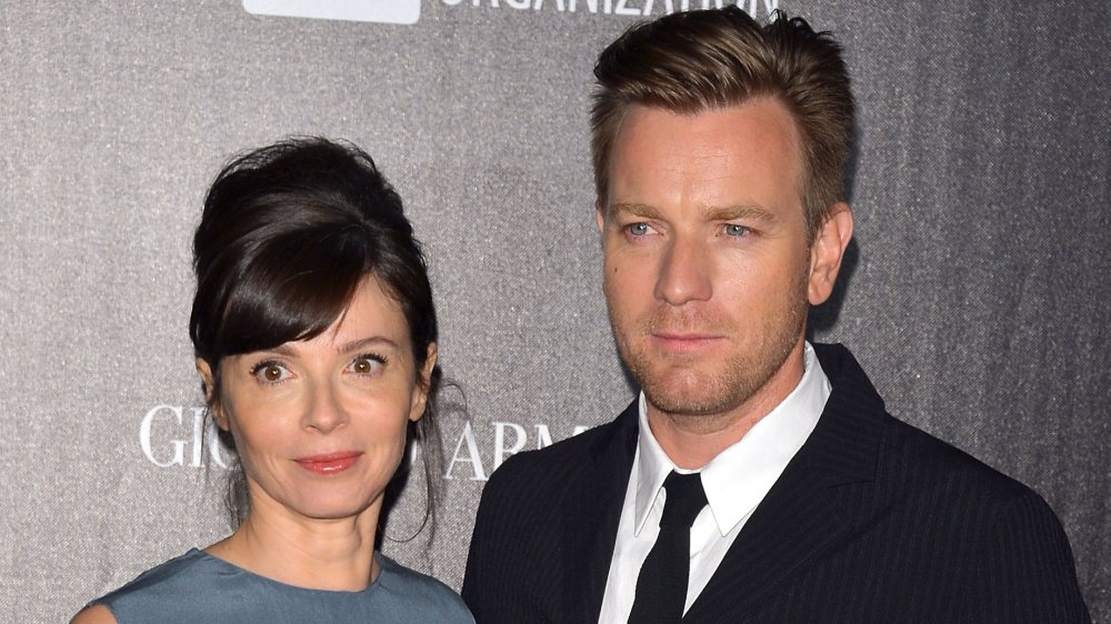 Eve Mavrakis and Ewan McGregor attending a benefit at the Cannes Film Festival in 2012