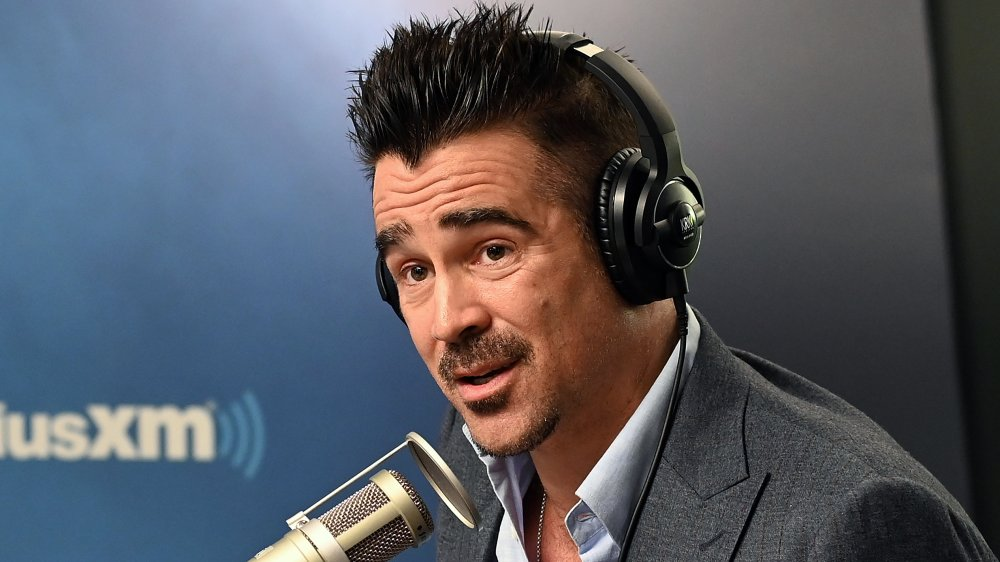 Colin Farrell lors d'une interview radio avec SiriusXM