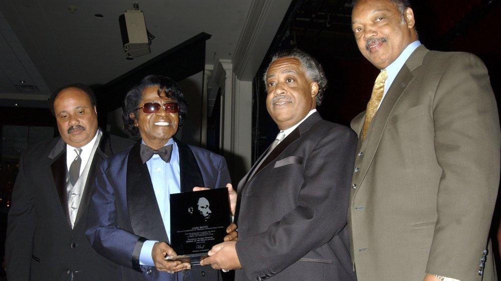 Martin Luther King, III, James Brown, Al Sharpton, Jesse Jackson au dîner de gala des gardiens du rêve