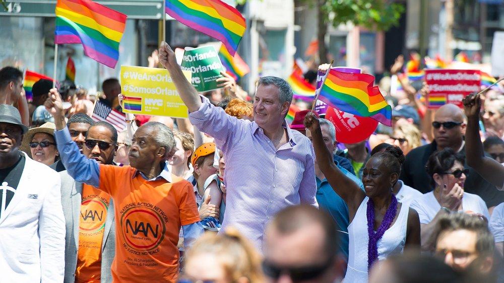 Al Sharpton, Bill de Blasio, Chirlane McCray au New York City Pride Parade en 2016