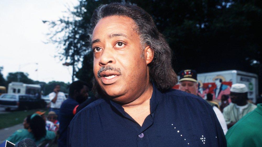 Al Sharpton lors d'une manifestation politique à Chicago