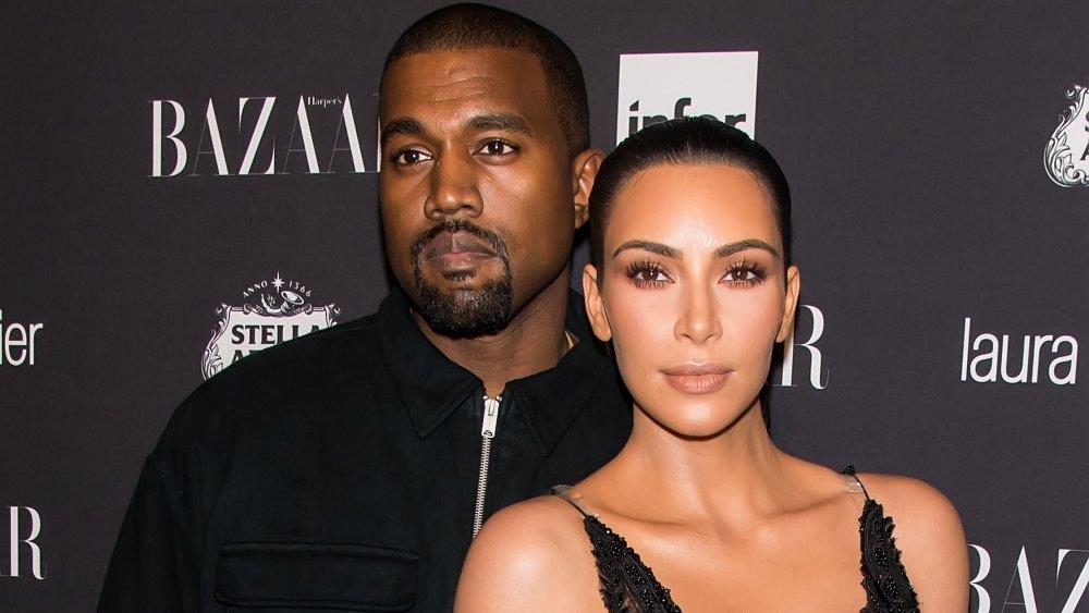 Kanye West et Kim Kardashian West à la célébration des ICONS de Harper's Bazaar par Carine Roitfeld