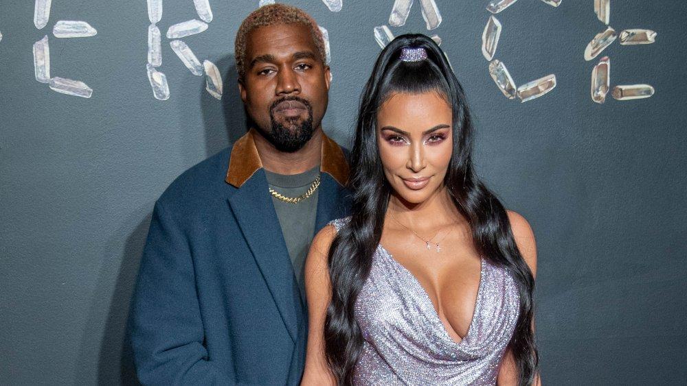 Kanye West et Kim Kardashian West au défilé Versace automne 2019