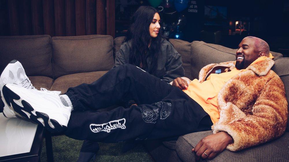 Kim Kardashian West et Kanye West dans les coulisses de l'arrêt LA de la tournée Astroworld World de Travis Scott
