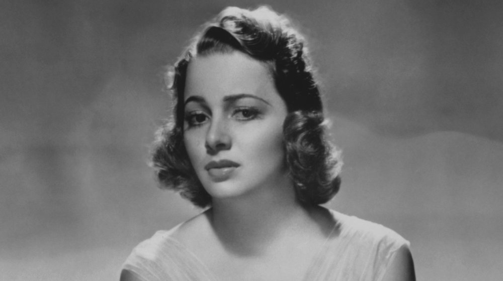 Photo en noir et blanc d'Olivia de Havilland, prise en 1938