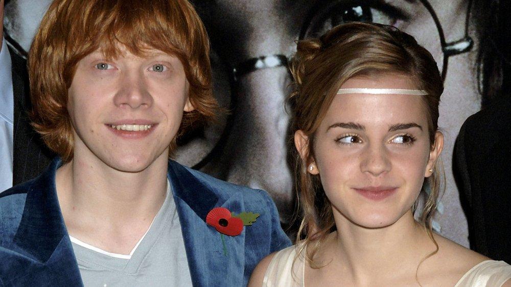 Rupert Grint et Emma Watson lors de la première de Harry Potter et la coupe de feu