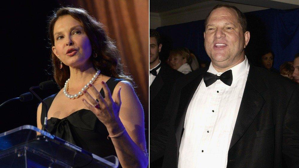 Image divisée d'Ashley Judd et Harvey Weinstein