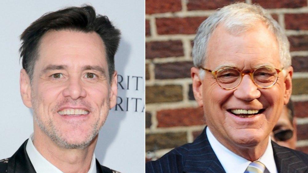 Jim Carrey, David Letterman
