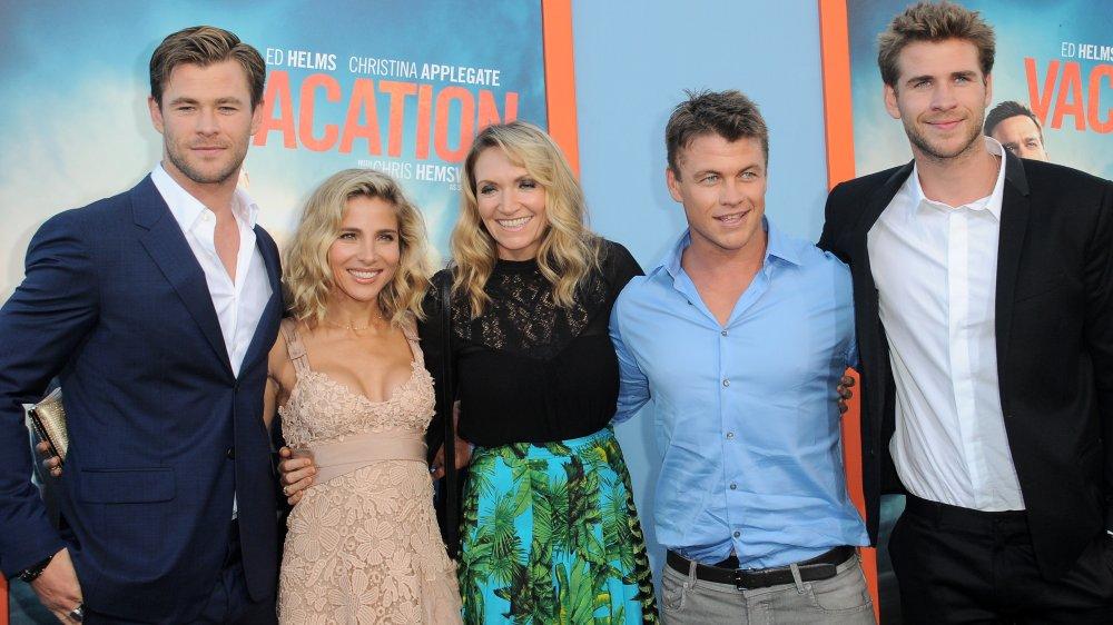 Chris Hemsworth, Elsa Pataky, Samantha Hemsworth, Luke Hemsworth et Liam Hemsworth