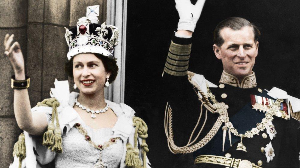 La reine et le prince Philip le jour de leur couronnement, 1953