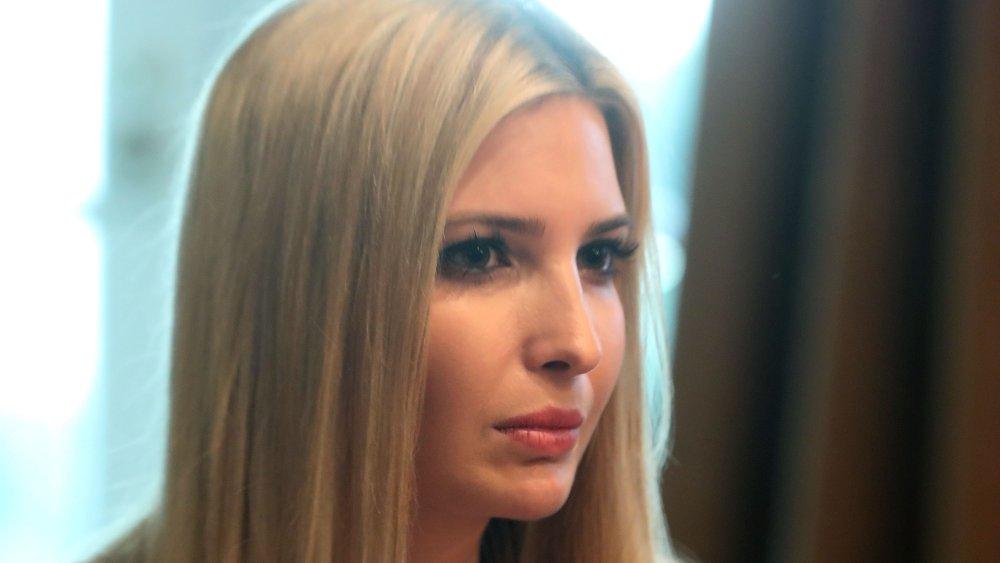 Une image de profil d'Ivanka Trump avec une expression sérieuse
