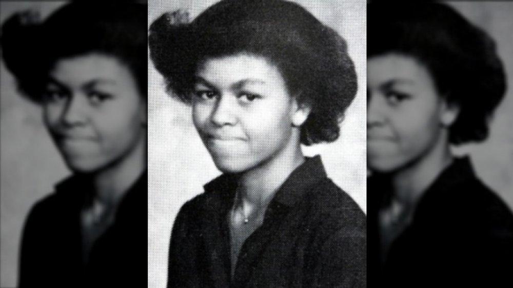 Michelle Obama 1980 photo annuaire