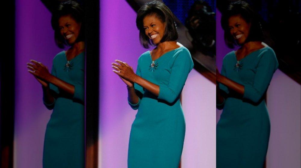 Michelle Obama à la Convention nationale démocrate en 2008