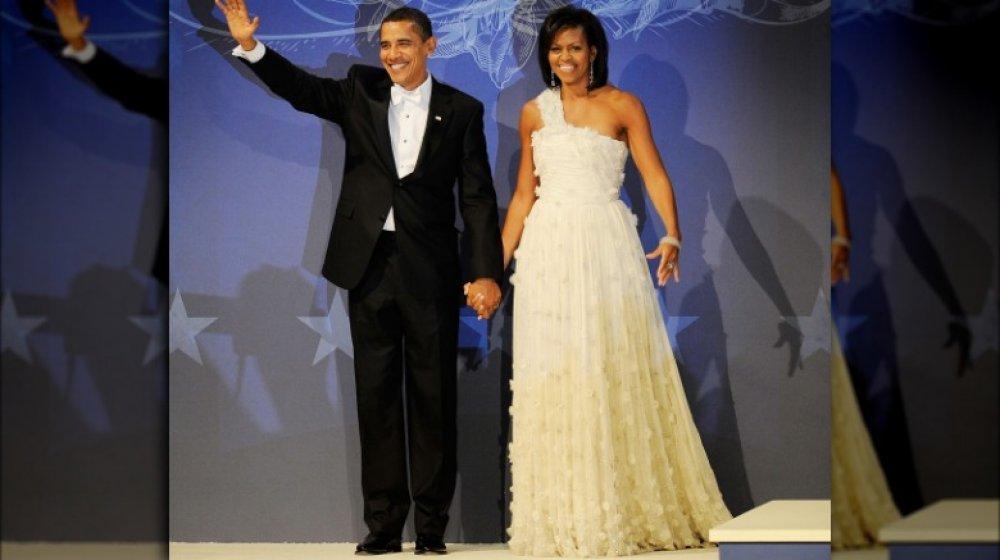 Barack Obama et Michelle Obama lors du bal inaugural de Barack en janvier 2009