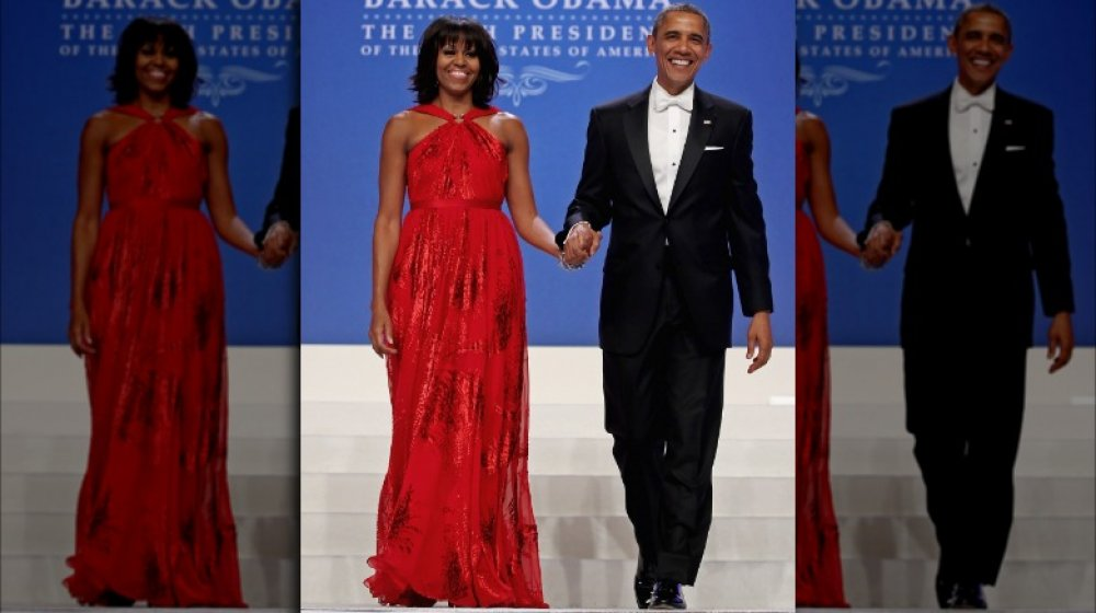Michelle Obama et Barack Obama lors du deuxième bal inaugural de Barack