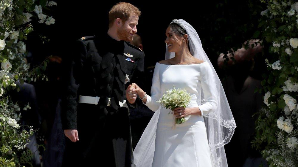 Meghan Markle et le prince Harry à leur mariage