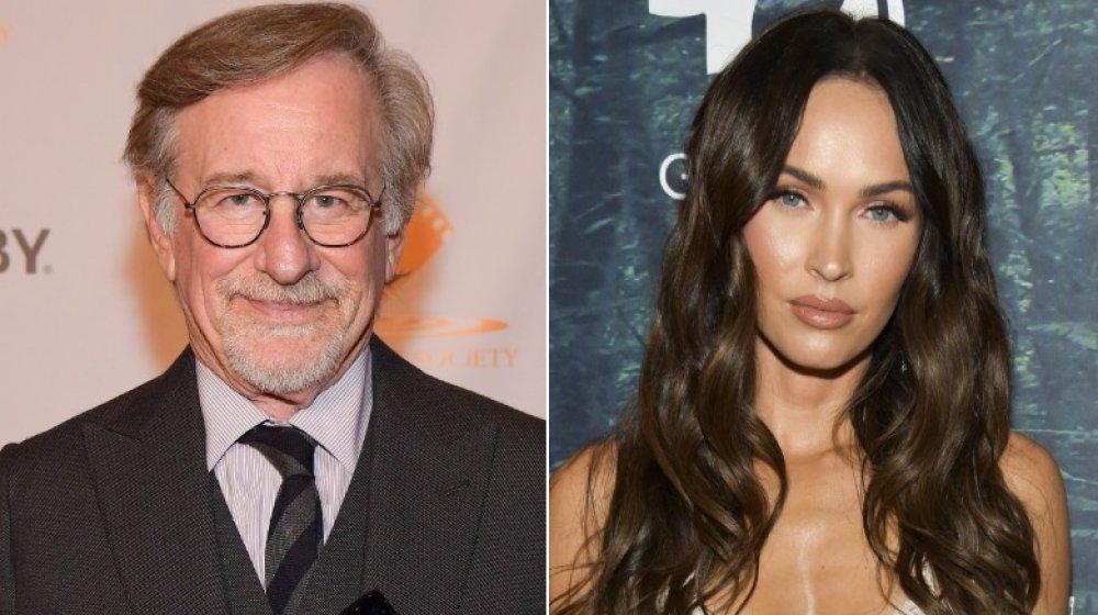 Steven Spielberg, Megan Fox, à la fois debout, image partagée