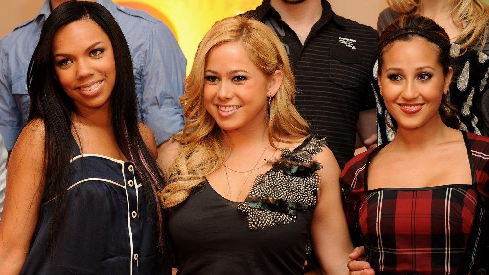 Kiely Williams, Sabrina Bryan et Adrienne Balon lors du lancement de la nouvelle saison de Disney Channel en 2008