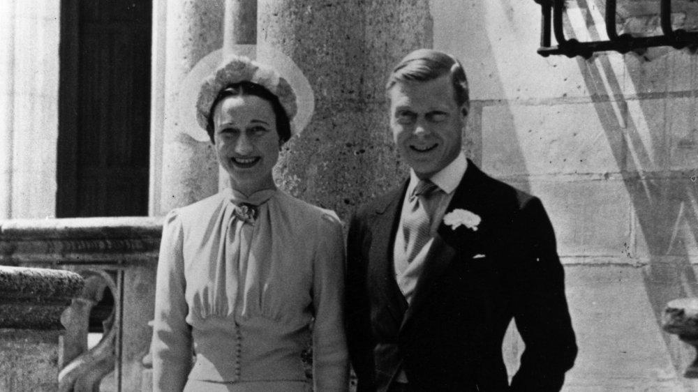 Wallis Simson et duc de Windsor le jour de leur mariage en 1937