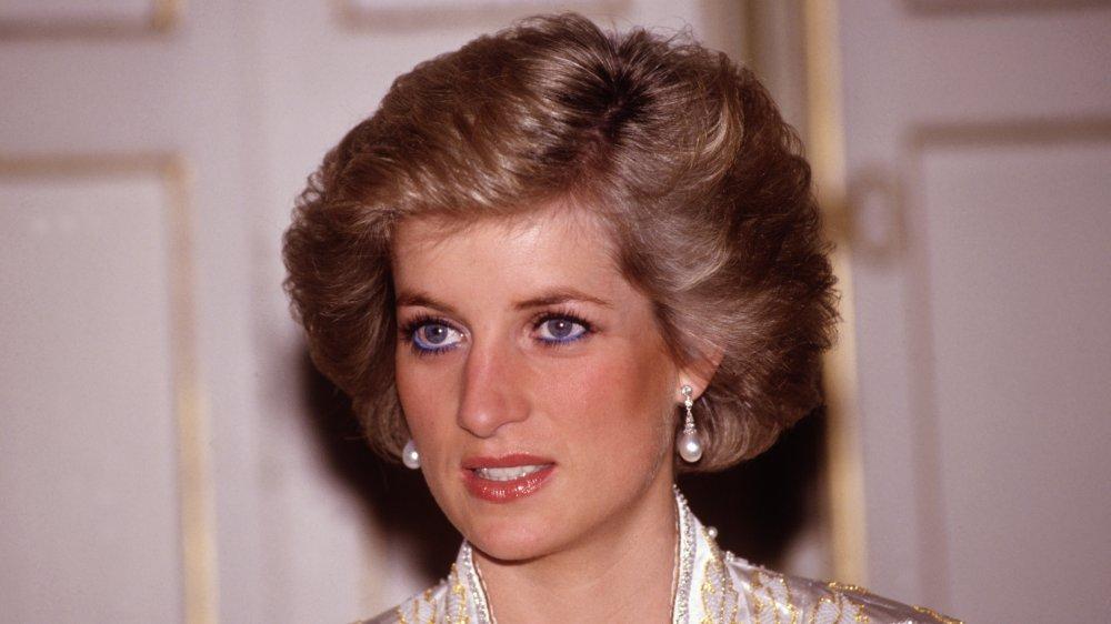 Princesse Diana au dîner donné par le président Mitterand en 1988