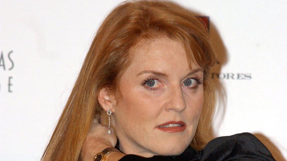 Sarah Ferguson à l'exposition de photographie sur les célébrités espagnoles au profit de l'UNICEF en 2001