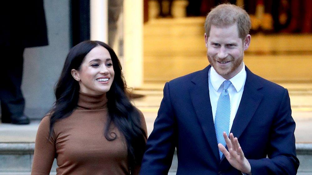 Meghan Markle et le prince Harry quittent la Maison du Canada en 2020