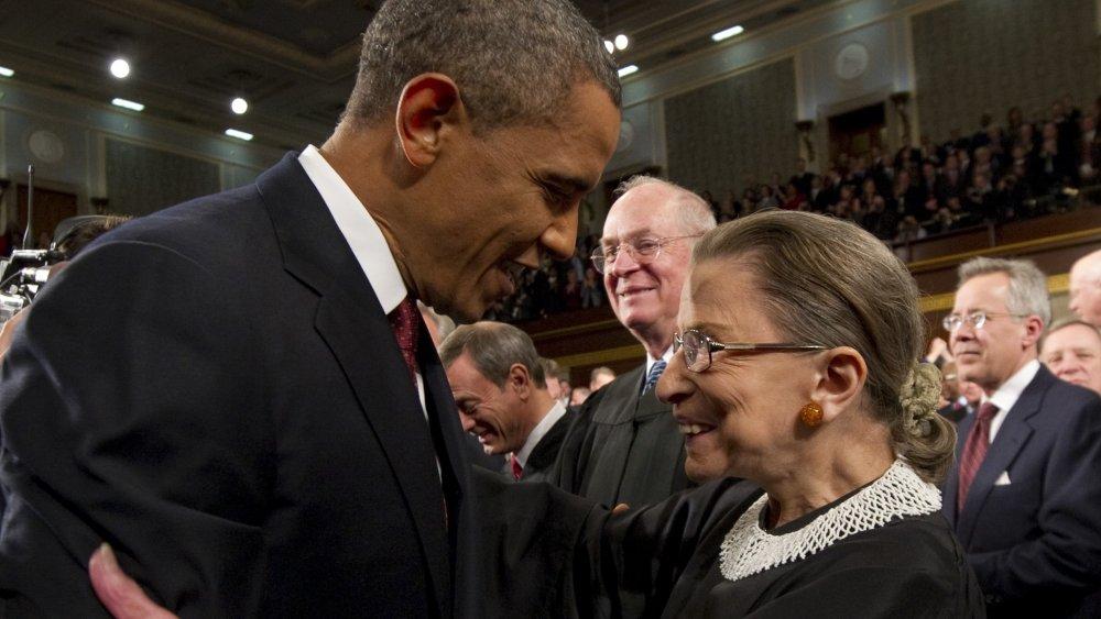 Barack Obama et Ruth Bader Ginsburg
