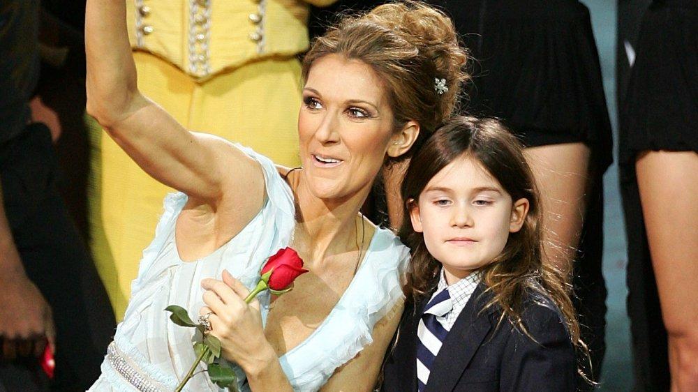 Céline Dion et son fils René-Charles Angelil