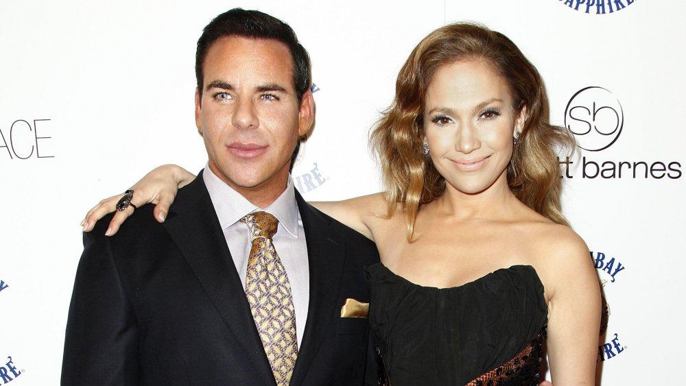 Scott Barnes et Jennifer Lopez à sa fête de lancement de livre About Face