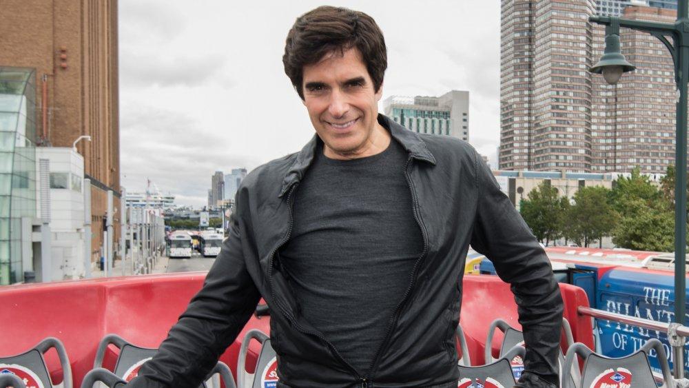 David Copperfield à la cérémonie d'intronisation du David Copperfield Ride of Fame au Quai 78 en 2015