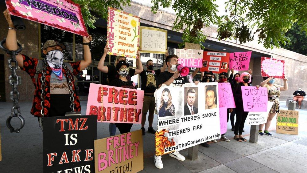 #FreeBritney manifestants