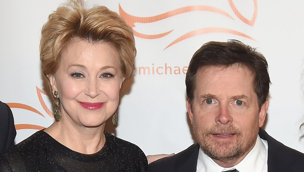 Jane Pauley et Michael J. Fox à un bénéfice pour la Fondation Michael J. Fox