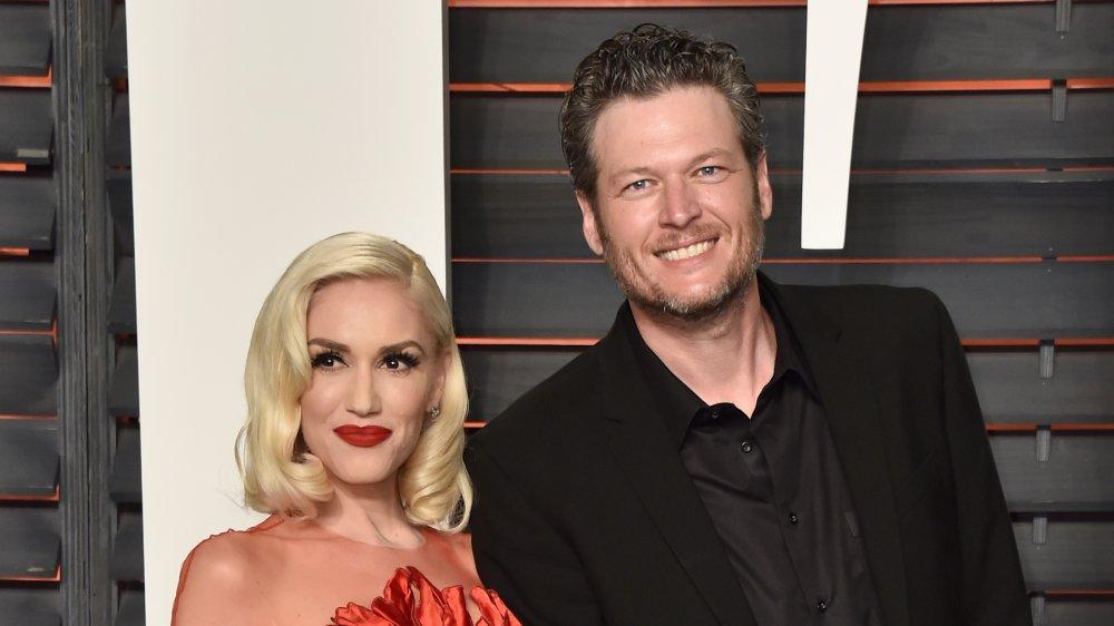Gwen Stefani et Blake Shelton à 2016 Vanity Fair Oscar Party