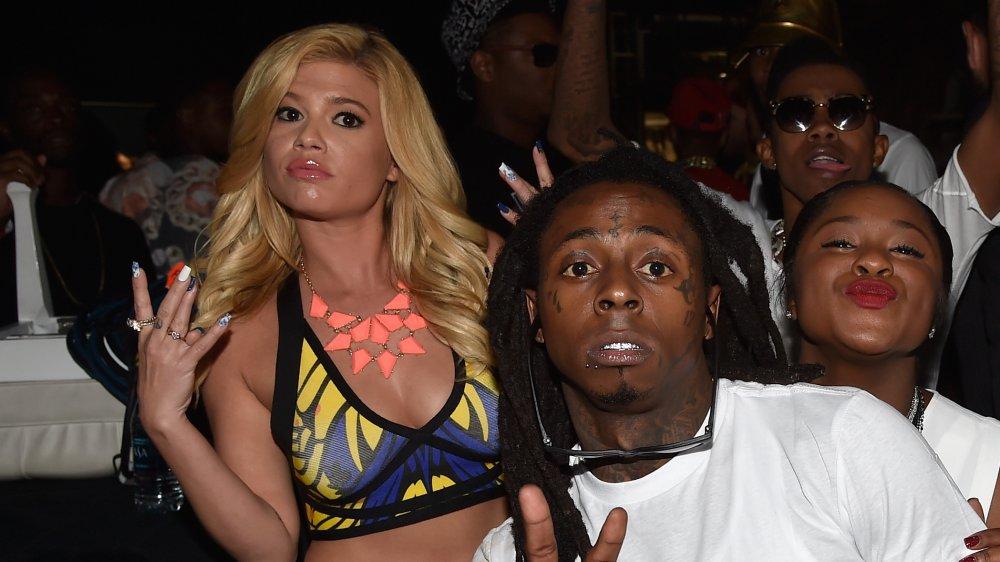 Chanel West Coast et Lil Wayne lors d'un événement