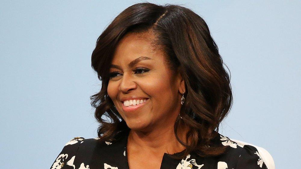 Michelle Obama lors de sa table ronde avec Glamour, « ne avenir plus brillant: une conversation mondiale sur l'éducation des fille »