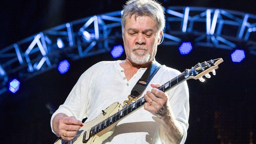 Eddie Van Halen playing on stage in 2015